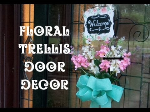 Floral Trellis Door Decor Dollar Tree Craft