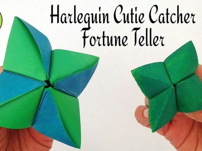 Harlequin Cutie Catcher I Fortune Teller - DIY Origami Tutorial by Paper Folds