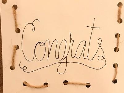 Homemade Congratulations Card DIY Crafts