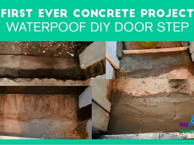 How I made waterproof DIY concrete door step - first ever concrete project