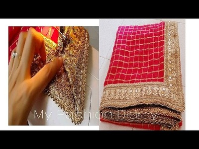 HOw to ATTACH LACE OR BORDER ON SAREE ( perfectly) with tips |DIY|