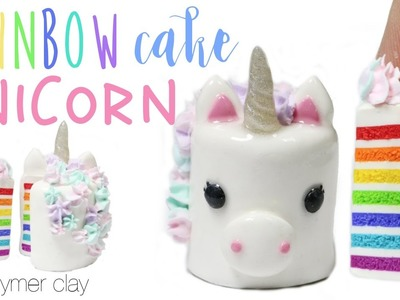 How to DIY Rainbow Unicorn Cake Polymer Clay Tutorial