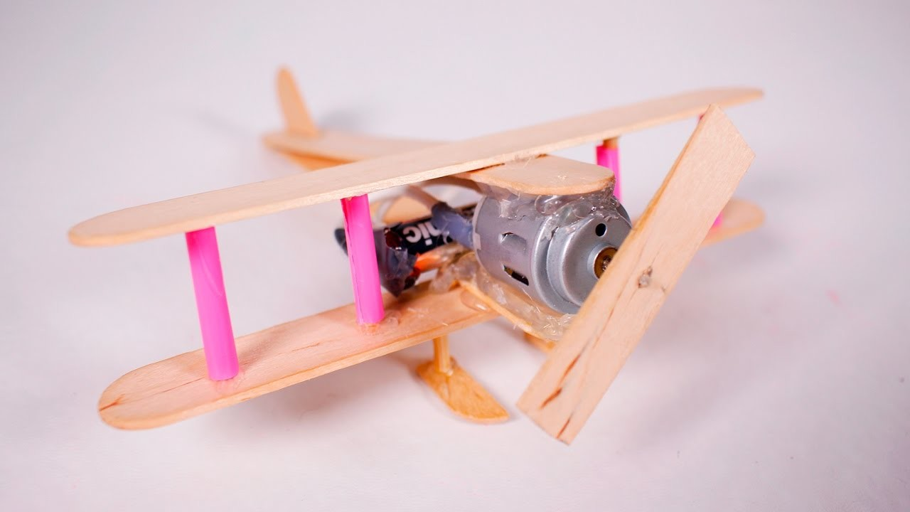 How to make a electric plane with dc motor wooden toy diy for How to make a electric motor