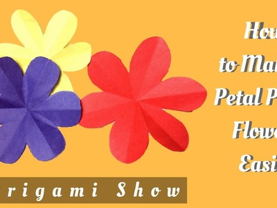 How to Make a Perfect 6 Petal Flower | Origami Show | DIY Paper Craft Tutorial
