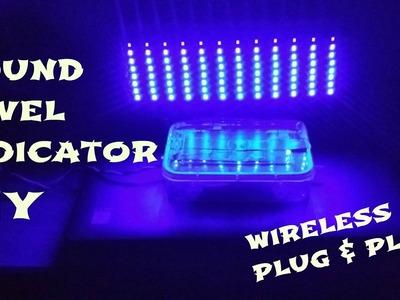 How to make a wireless vu meter||sound level indicator||DIY