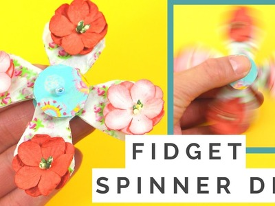 How to Make an Easy Fidget DIY that SPINS without Bearings! Easy Fidget Toy Tutorial
