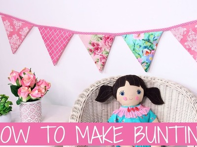 How to make Bunting | Baby Bunting | Bunting Template | Wedding Bunting |  DIY Bunting