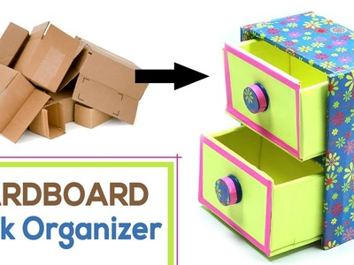 How to Make DIY Desk Organizer with Waste Cardboard Craft