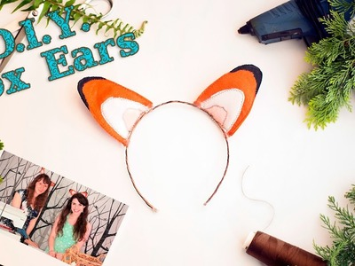 How to make Felt or Vinyl Fox Ears | Great Craft Ideas For Kids | A Damsels in DIY Tutorial