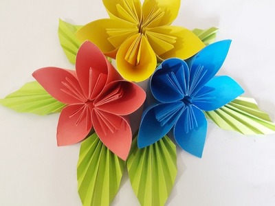 How To Make Kusudama Paper Flowers Easy Tutorial   2017  Paper Craft Ideas 