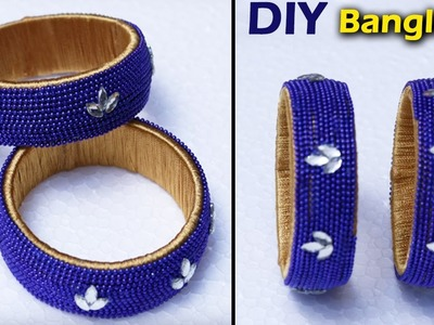 How to make New Designer Silk Thread Bangles at Home | DIY Bangles | Partywear
