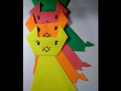 How to make paper cat-Paper craft for beginner-easy origami