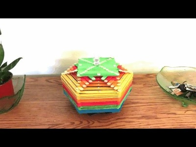 How to make Popsicle stick basket DIY | Craft | #1