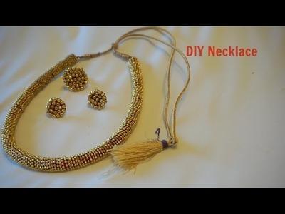 How To Make Slik Thread Jewelry Set.Easy craft