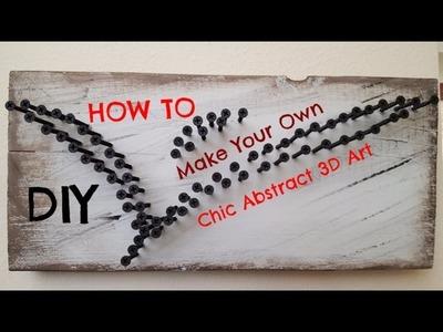 Industrial 3D chic abstract art DIY using screws