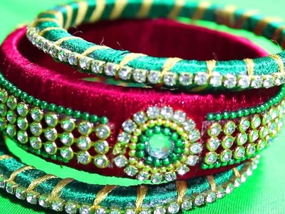 Latest Bangle Designs with Silk thread | DIY Bangles make Tutorial Videos || Fashion Designs Bangles
