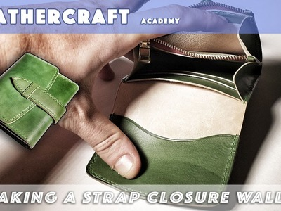 Making a Strap closure wallet.leather craft tutorial