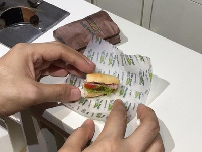 Mini Food Subway Sandwich (miniature cooking) (DIY) (ASMR) (KIDS TOYS)