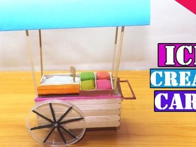 Miniature Ice Cream Cart | Popsicle Stick Craft - Easy Tutorial