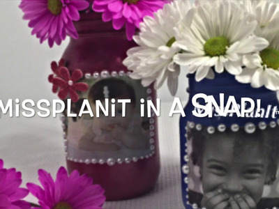 MissPlanIt Flash Back Friday DIY: Tutorial Mothers Day Mason Jar!