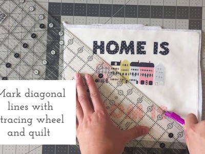 Mother's day DIY gift - How to make a quilted artwork - Handmade project for Mother's Day