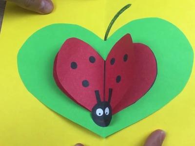 Mother's day lovely gift card, easy DIY for children