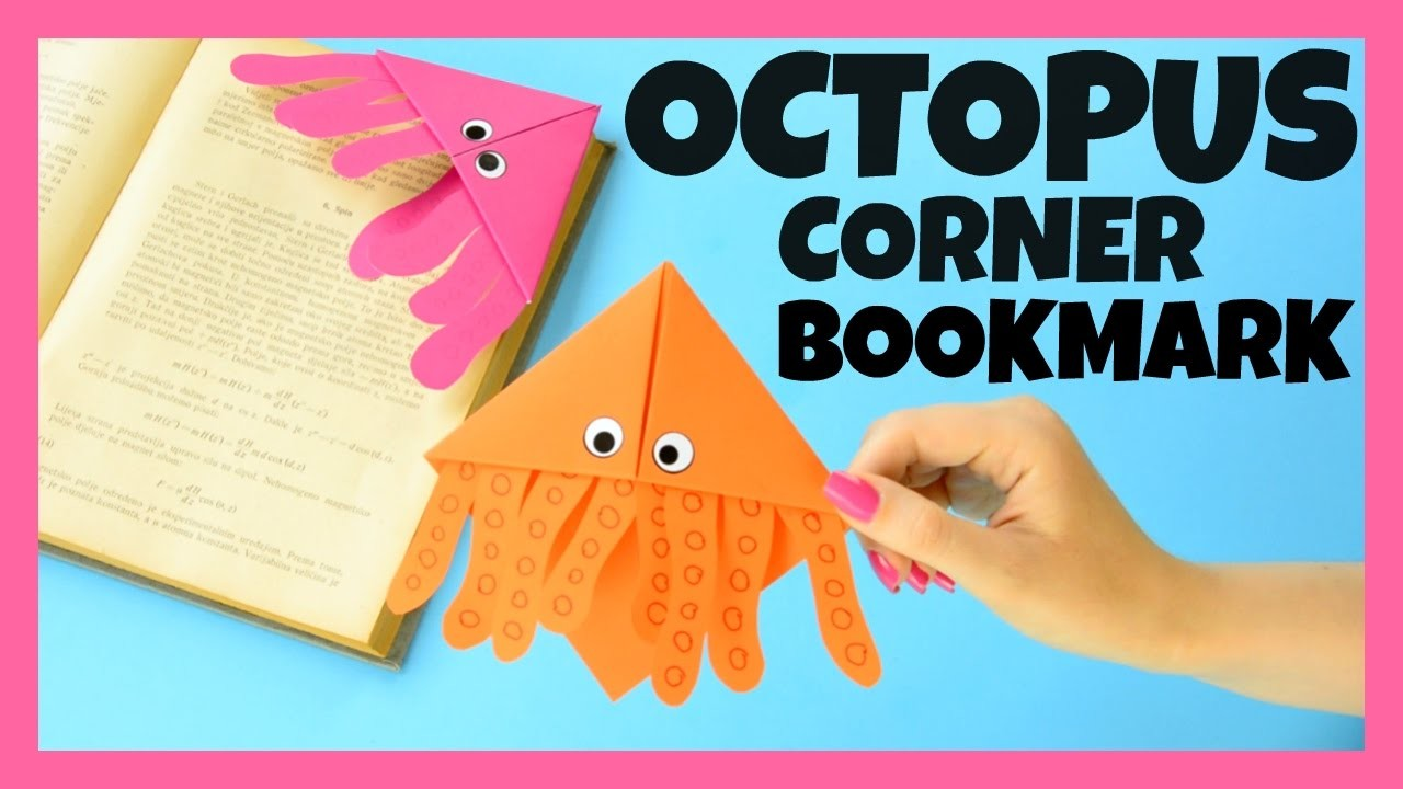octopus corner bookmarks octopus corner bookmark idea origami craft for 2566