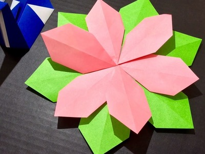 Origami Paper Craft Flower (Tutorial) 5 minute quick crafts