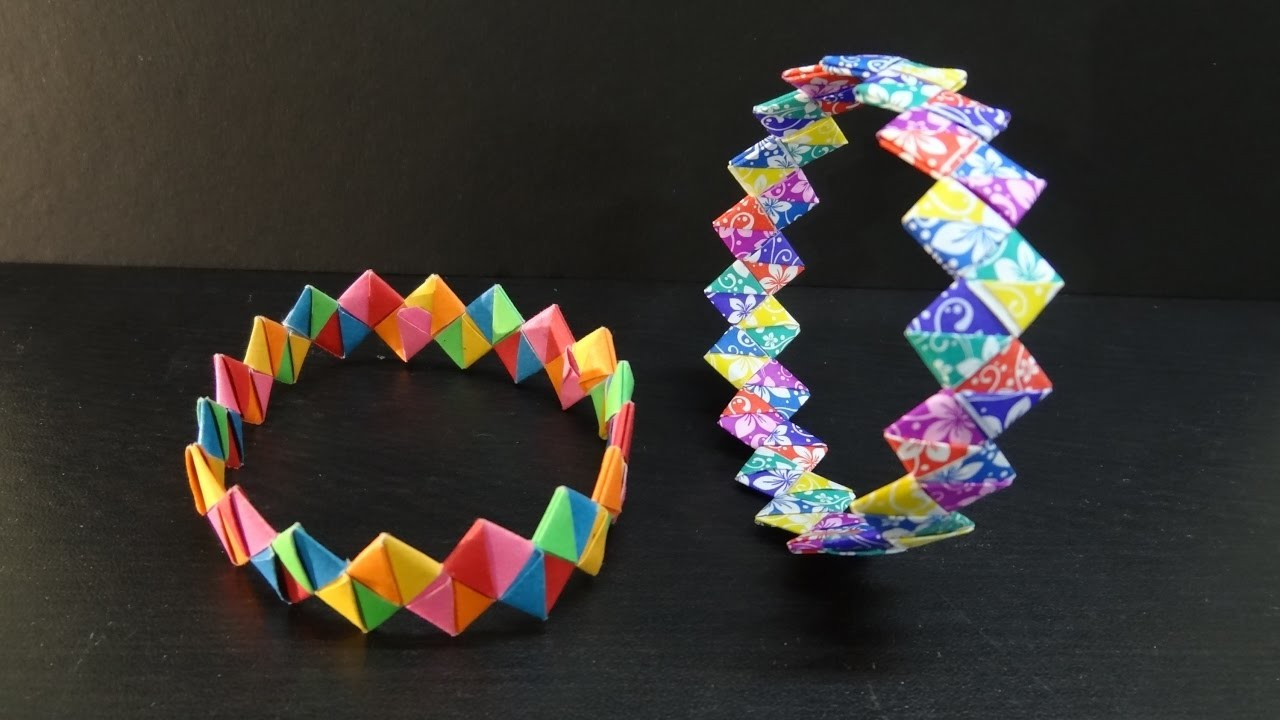 Paper Crafts How To Make A Diy Paper Wristband Friendship Band Bracelet on Make Easy Beaded Bracelets