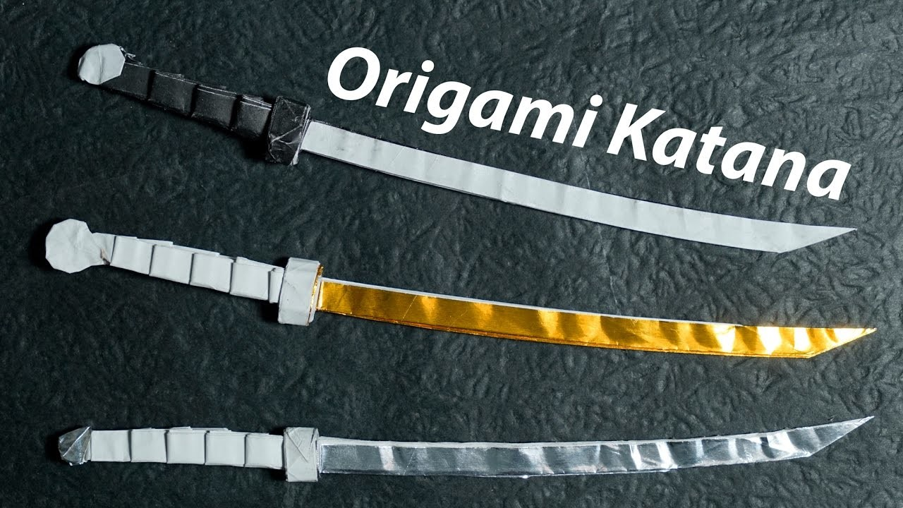 Origami Sword An Origami Style Sword