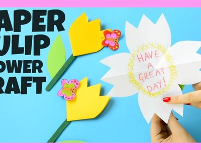 Paper Tulip Flower Craft for Kids