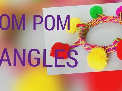 Pom Pom bangles DIY. recycle old bangles
