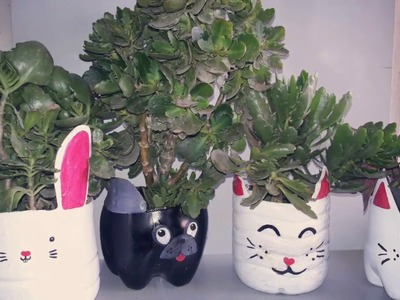 Quick Craft: DIY Animal Planters|DIY| Mommy&Baby's Art Class| Kids Art&Crafts| Plastic bottle crafts