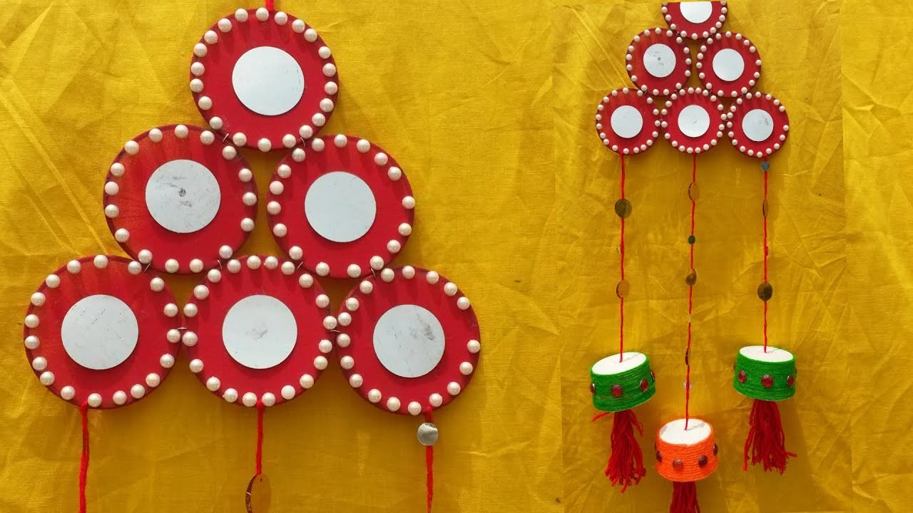 ROOM DECOR: :DIY Wall Hanging For Room Decor I How to make Wall Hanging from waste Ice Cream Cups