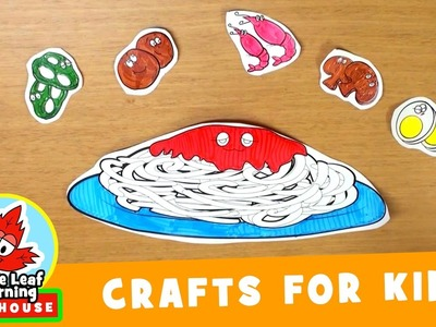 Spaghetti Craft for Kids | Maple Leaf Learning Playhouse
