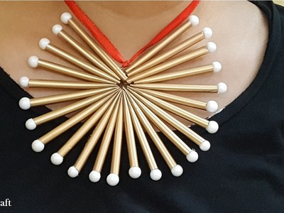 Straw Necklace | DIY | Just Craft | Easy