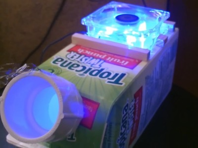 "The ""Juice Carton"" Air Cooler! - Homemade AC Air Cooler! - Simple DIY - can be solar powered!"