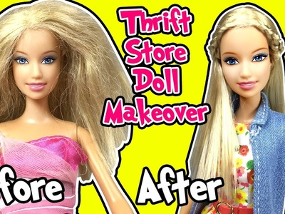 Thrift Store Barbie Doll Makeover - DIY - How to Fix Doll Hair and Neck - Making Kids Toys