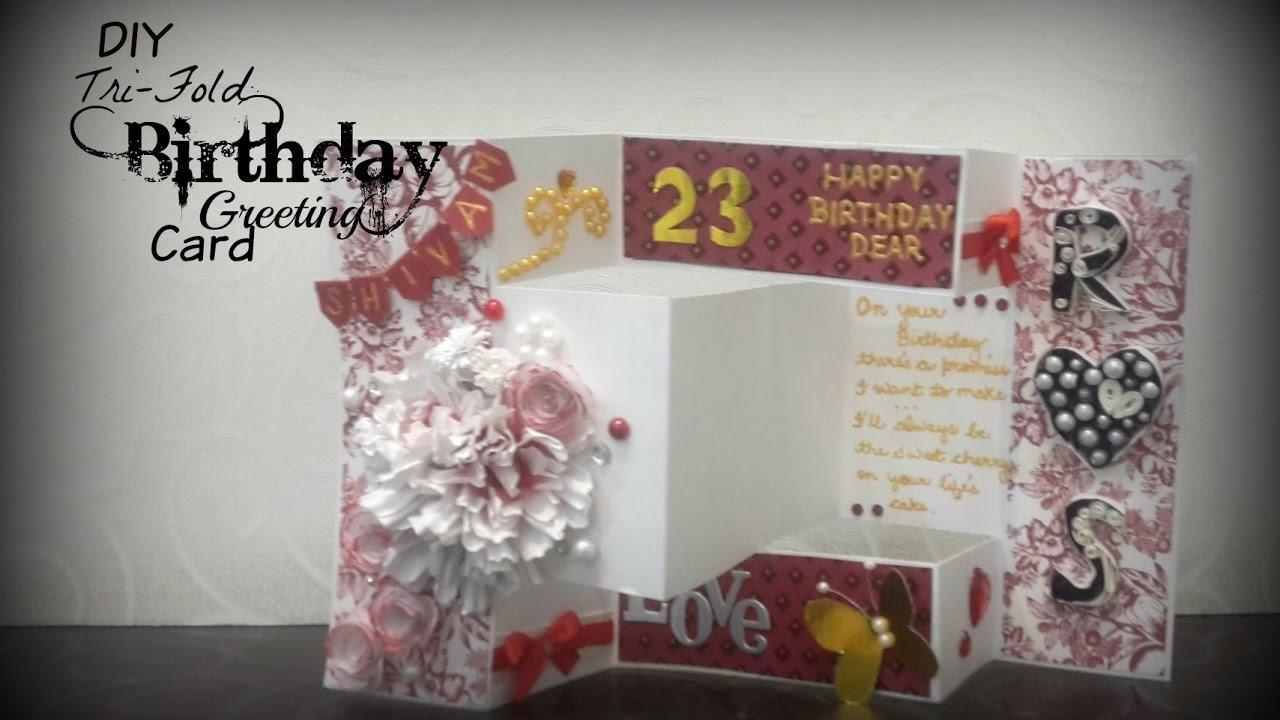 Tri Fold Birthday Greeting Card