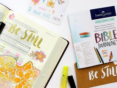 Using the Bible Journaling Kit by Faber Castell Design Memory Craft