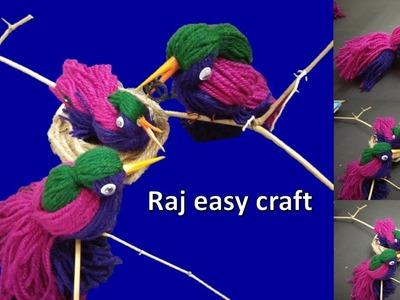 Wooly Birds   Diy Decor  easy craft   home Decor