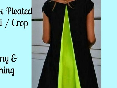 Back Pleated Kurti. Crop Top Simple Method (DIY)