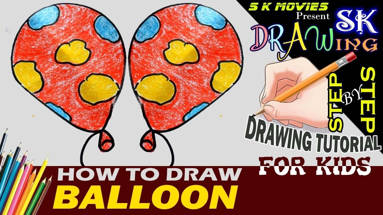 BALLOON 2 | How to draw Balloon | Easy Drawing step by step Tutorial