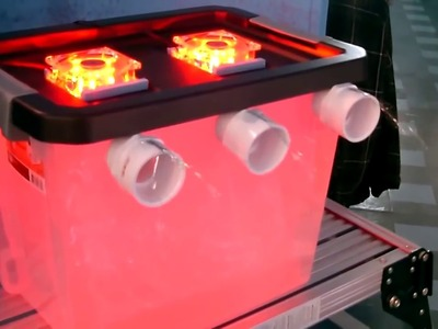 "DIY Air Conditioner! - Cool ""multi-color"" AC Air Cooler! -(holds 50lbs of ice)- can be solar powered"