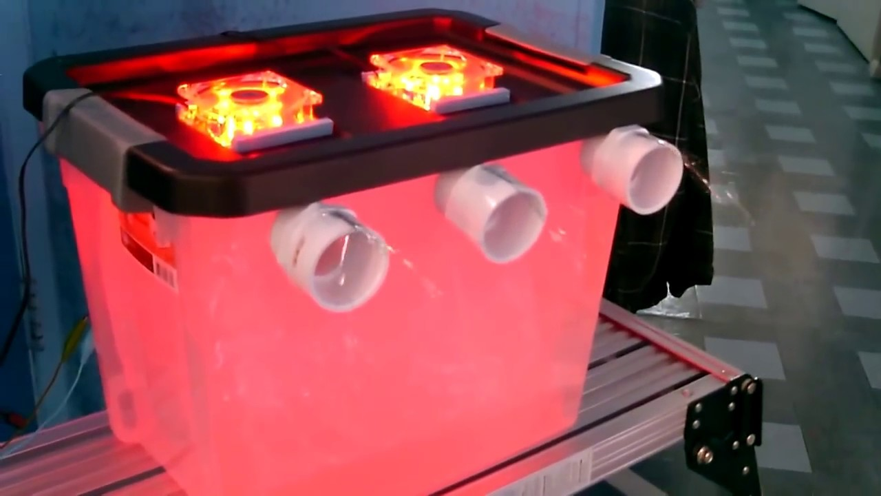 """DIY Air Conditioner! - Cool """"multi-color"""" AC Air Cooler! -(holds 50lbs of ice)- can be solar powered"""
