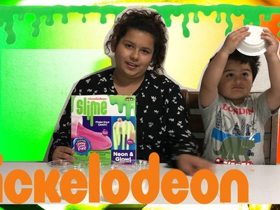 DIY NICKELODEON NEON GLOW SLIME KIT | HOW TO MAKE SLIME
