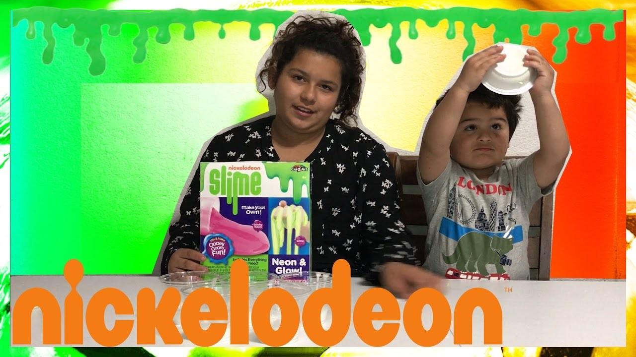 DIY NICKELODEON NEON GLOW SLIME KIT | HOW TO MAKE SLIME