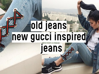 DIY Old Jeans to New Gucci Inspired Jeans (ft.Lookunderhere) | Qformation EP.9