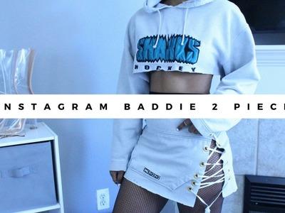 DIY Sweater into Instagram Baddie 2 piece set