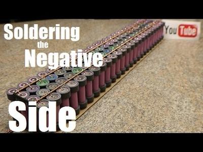Diy Tesla Powerwall ep39 Soldering the Negative Side of Things